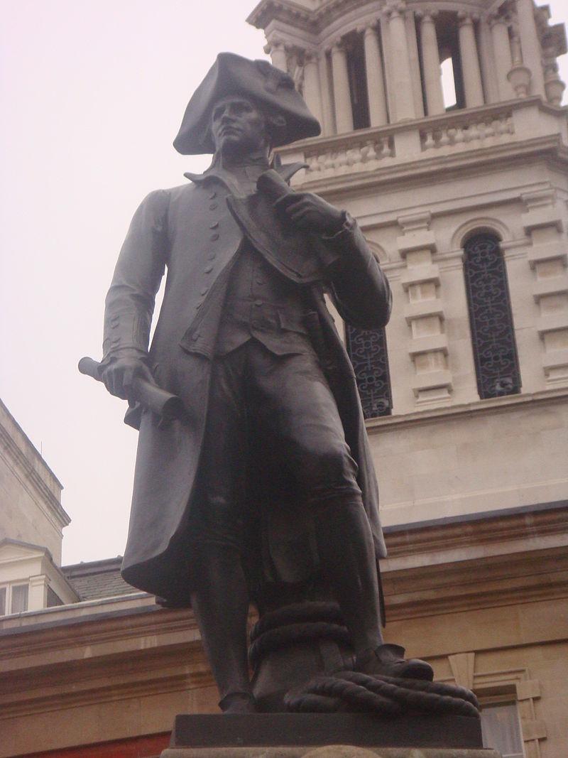 Άγαλμα του κάπτεν  Κουκ στο Λονδίνο.