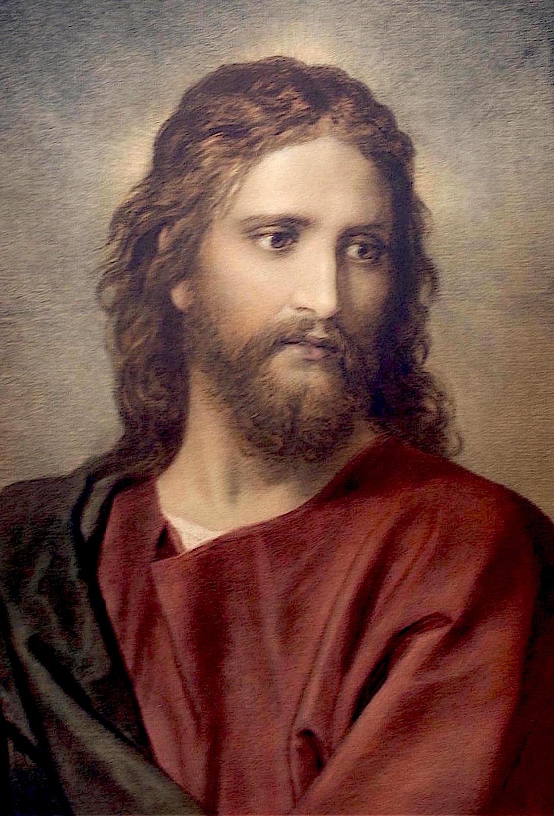 Έτσι φαντάζονται οι περισσότεροι ότι ήταν η μορφή του Ιησού Χριστού - Πίνακας του Χάινριχ Χόφμαν.