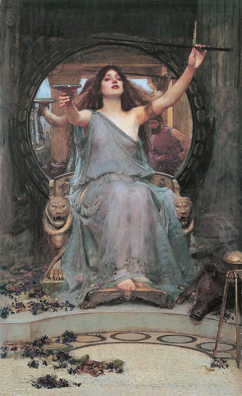 H  Κίρκη προσφέρει το ποτήρι με το μαγικό φίλτρο στον Οδυσσέα – Πίνακας του Τζον Γουίλιαμ Γουότερχαουζ (1891).