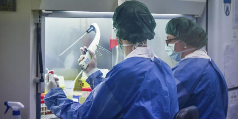 Ερευνητές πραγματοποιούν ελέγχους για την ασθένεια Covid-19 που προκαλεί ο κορωνοϊός.