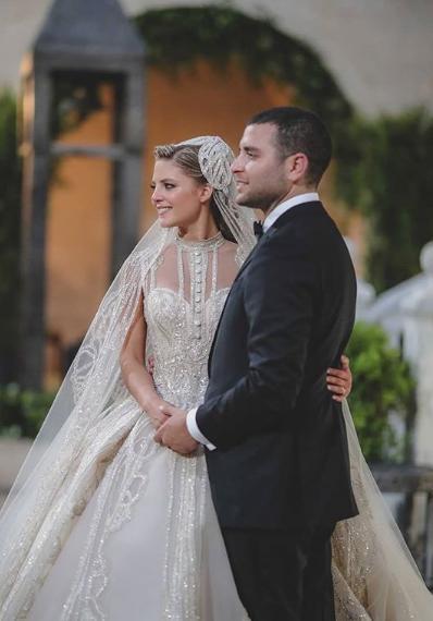 Η Κριστίνα Μουράντ με τον γιο του Elie Saab παντρεύτηκαν το Σάββατο στο Λίβανο