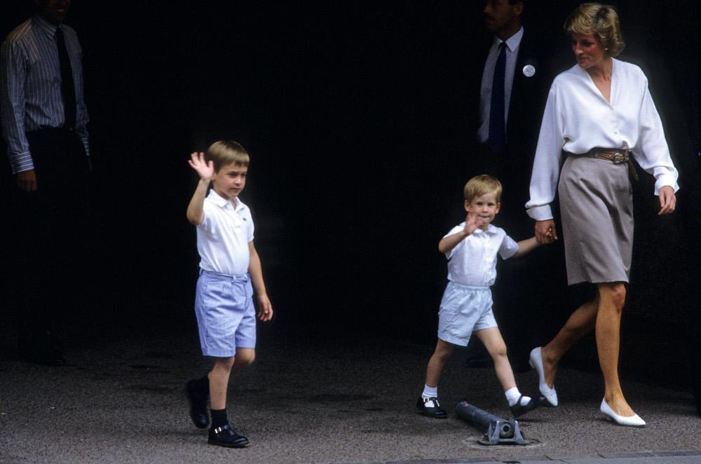Η πριγκίπισσα Νταϊάνα με τα δυο της παιδιά, Χάρι και Γουίλιαμ