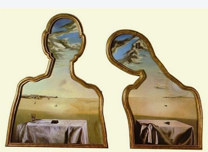 Ο Νταλί φιλοτέχνησε το «Ζευγάρι με τα Κεφάλια Γεμάτα Σύννεφα» το 1936