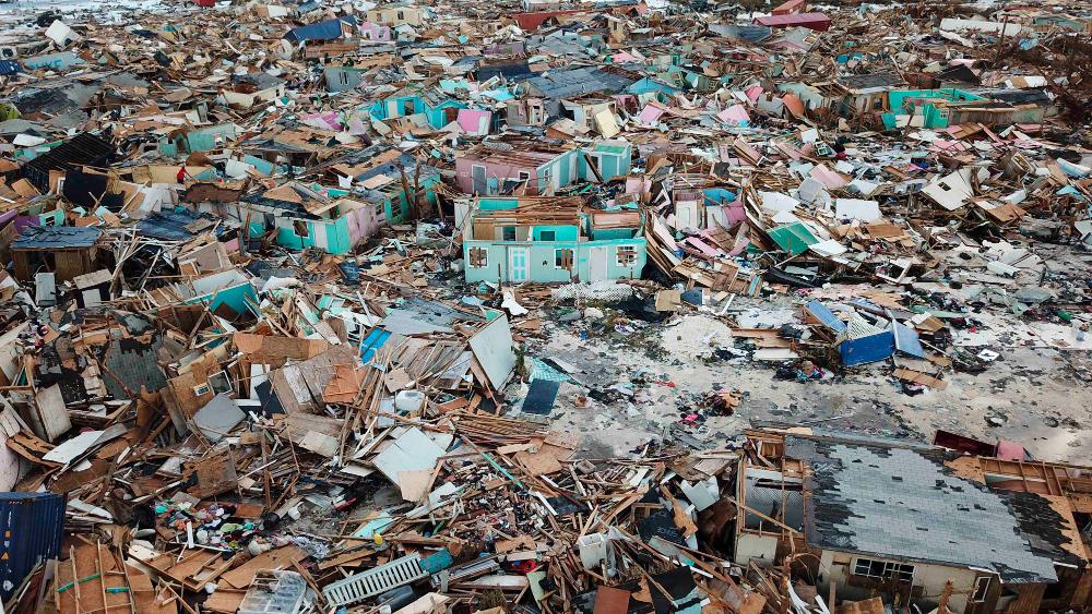 Σπίτια κατεστραμμένα από τον τυφώνα Dorian