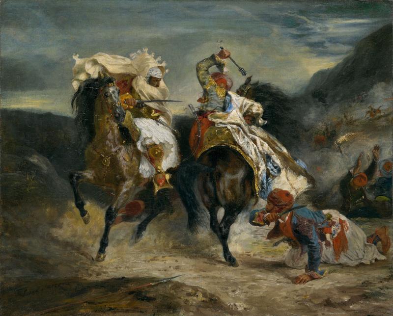 Ο πίνακας Η μάχη του Γκιαούρη και του Χασάν του Ευγένιου Ντελακρουά