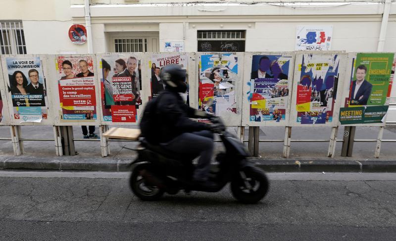 Προεκλογικές αφίσες στη Μασσαλία ενόψει των ευρωεκλογών.