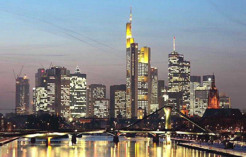 Άποψη της Φρανκφούρτης, οικονομικής καρδιάς της Γερμανίας.