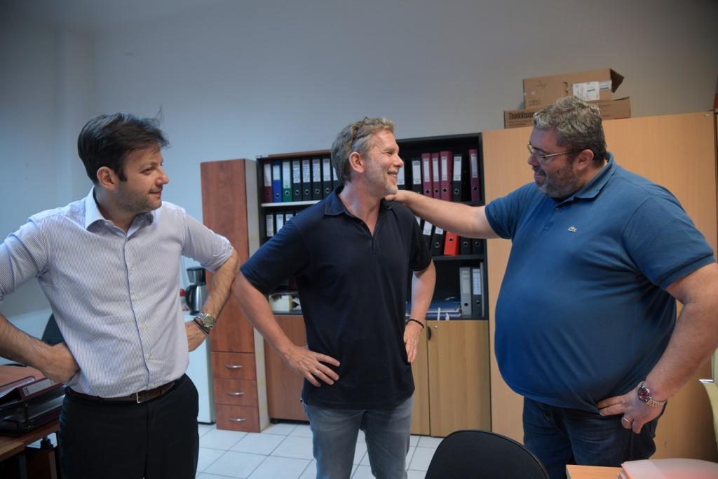 Τον κ. Γερουλάνο συνόδευε ο Δήμαρχος Αθηναίων Γιώργος Μπρούλιας