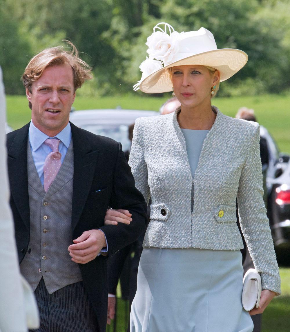 Ο Τόμας Κίνγκστον με την λαίδη Γκαμπριέλα στο γάμο της Πίπα Μίντλετον