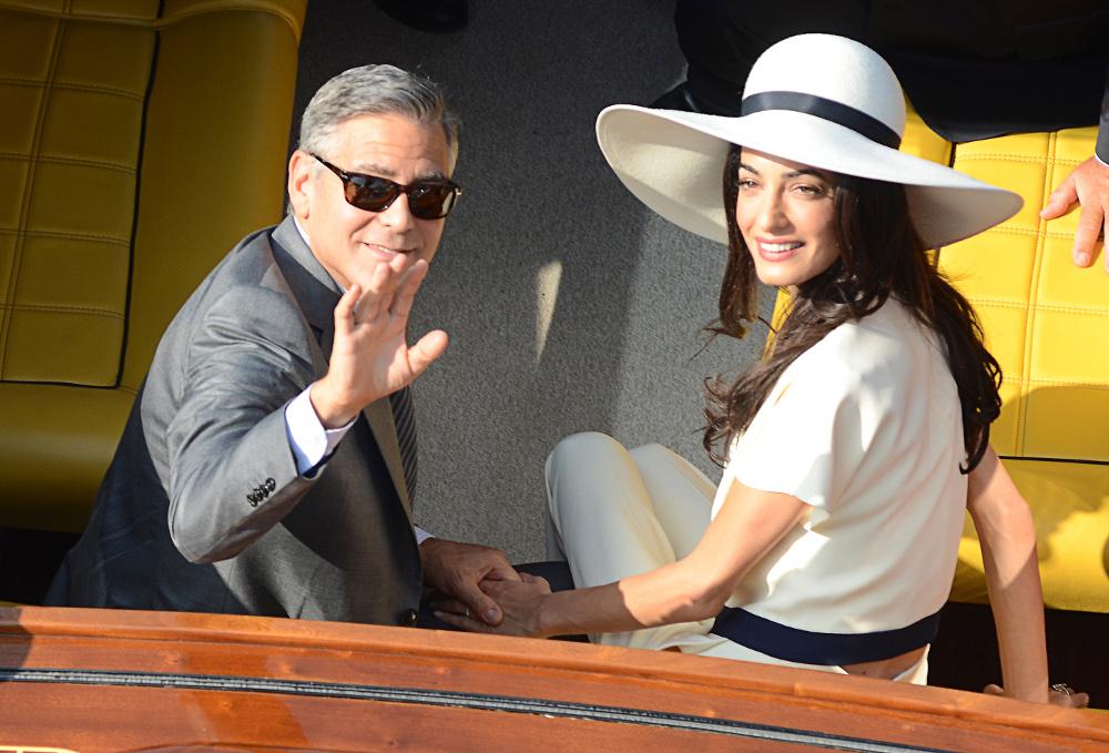 Αμάλ και Τζορτζ Κλούνεϊ από τον πολιτικό γάμο τους στη Βενετία πριν από 5 χρόνια