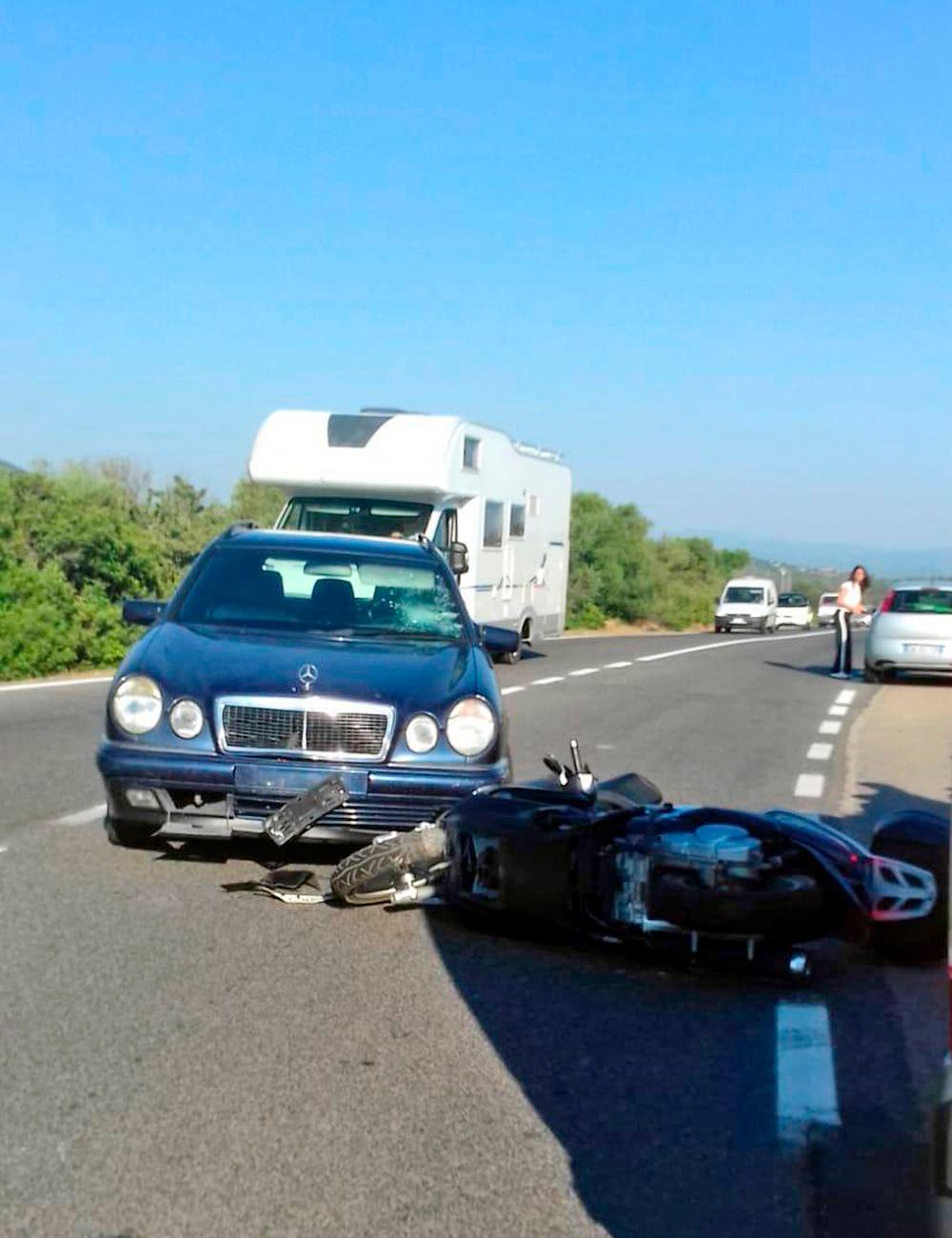 Η μηχανή του Τζορτζ Κλούνεϊ μετά το ατύχημα