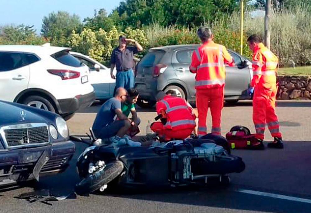 Η μηχανή που οδηγούσε ο Τζορτζ Κλούνεϊ μετά το ατύχημά του στην Ιταλία