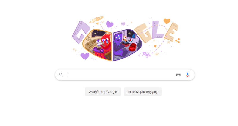 Google doodle βαλεντίνος ερωτευμένοι