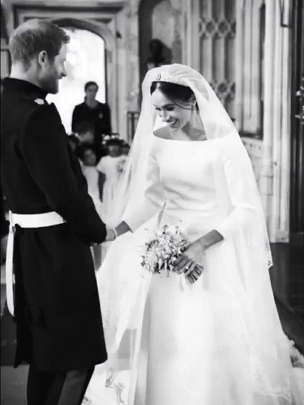 O  πρίγκιπας Χάρι και η Μέγκαν Μαρκλ τη μέρα του γάμου τους.