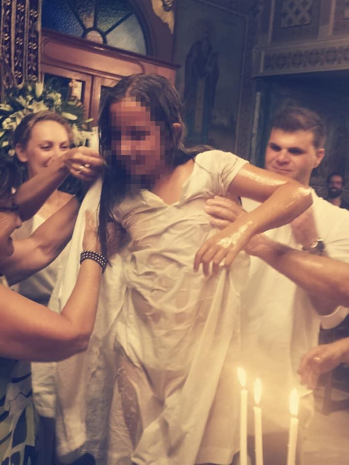 Στιγμιότυπο από την βάφτιση της κόρης της ΦΩτεινβής Ψυχίδου