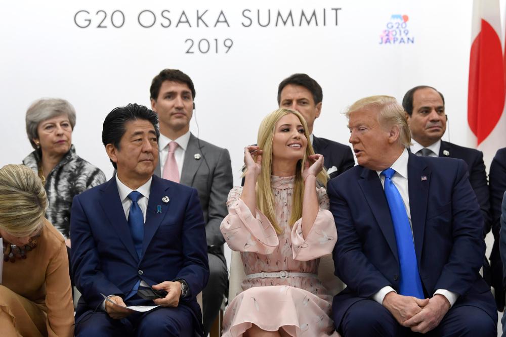 Ο Αμερικανός πρόεδρος Ντόναλντ Τραμπ με την κόρη του στη Σύνοδο Κορυφής G20