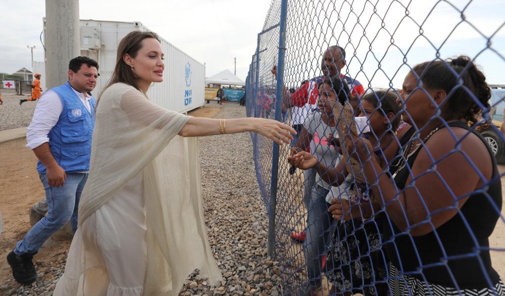 Η Αντζελίνα Τζολί βρέθηκε πρόσφατα στα σύνορα με την Βενεζουέλα