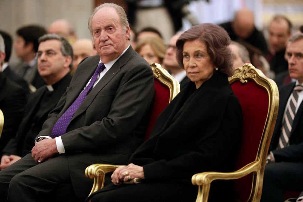 Ο Χουάν Κάρλος με την σύζυγό του, πρώην βασίλισσα Σοφία