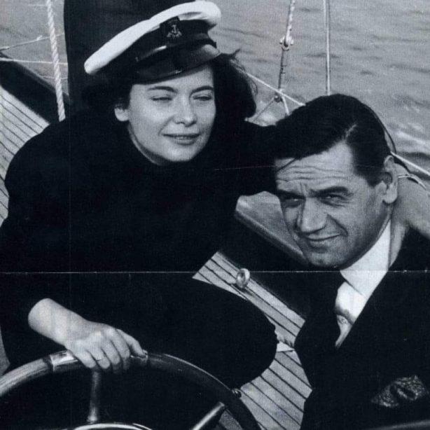 Καρέζη Χατζηφωτίου στο σκάφος τους