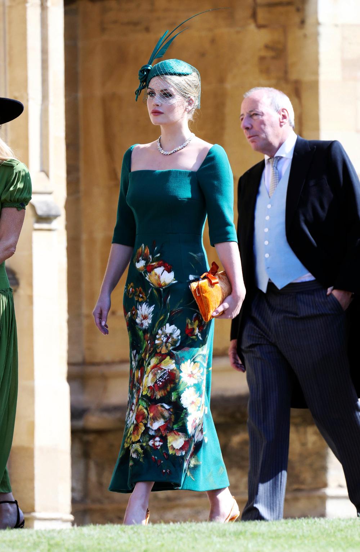 Η Κίτι Σπένσερ στο γάμο του ξαδέρφου του, πρίγκιπα Χάρι με την Μέγκαν Μαρκλ πέρυσι τον Μάιο