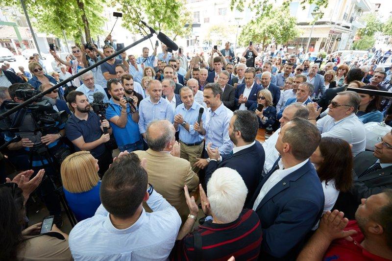 Ο κ. Μητσοτάκης μίλησε στους κατοίκους της Εδεσσας