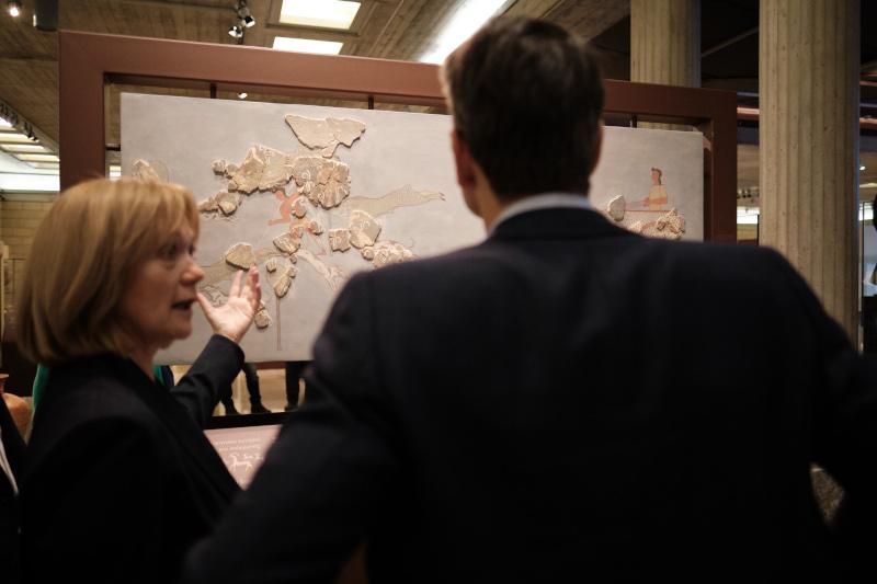 Ο Κυριάκος Μητσοτάκης ξεναγήθηκε στους χώρους του Μουσείου