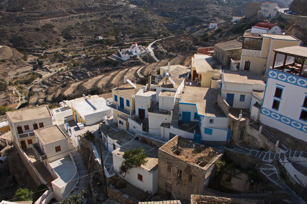 Πανοραμική άποψη του χωριού Όλυμπος της Καρπάθου
