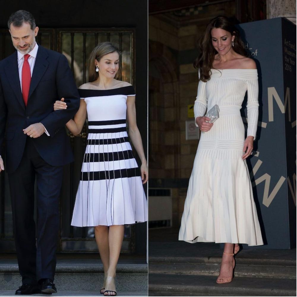 Κέιτ και Λετίθια με έξωμα φορέματα