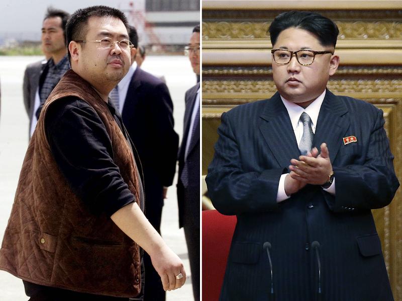 Ο Κιμ Γιονγκ Ουν και ο ετεροθαλής αδελφός του Κιμ Γιονγκ Ναμ (αριστερά).