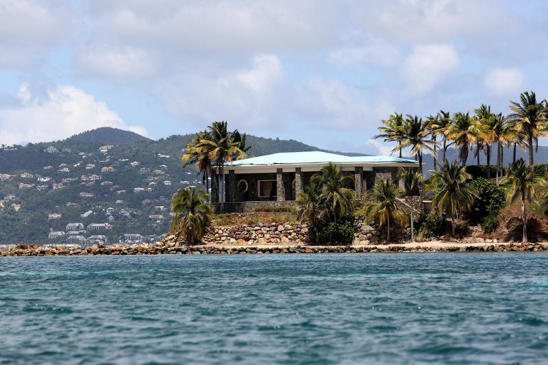 Η «βίλα των παιδεραστών» του Τζέφρι Έπσταϊνη στη νήσο Little St James στην Καραϊβική.