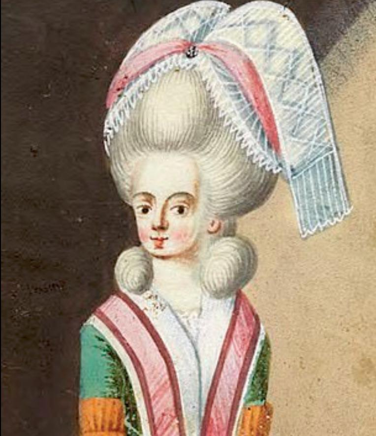 Πορτρέτο της βαρώνης Μαρία Σοφία φον Έρταλ σε νεαρή ηλικία.