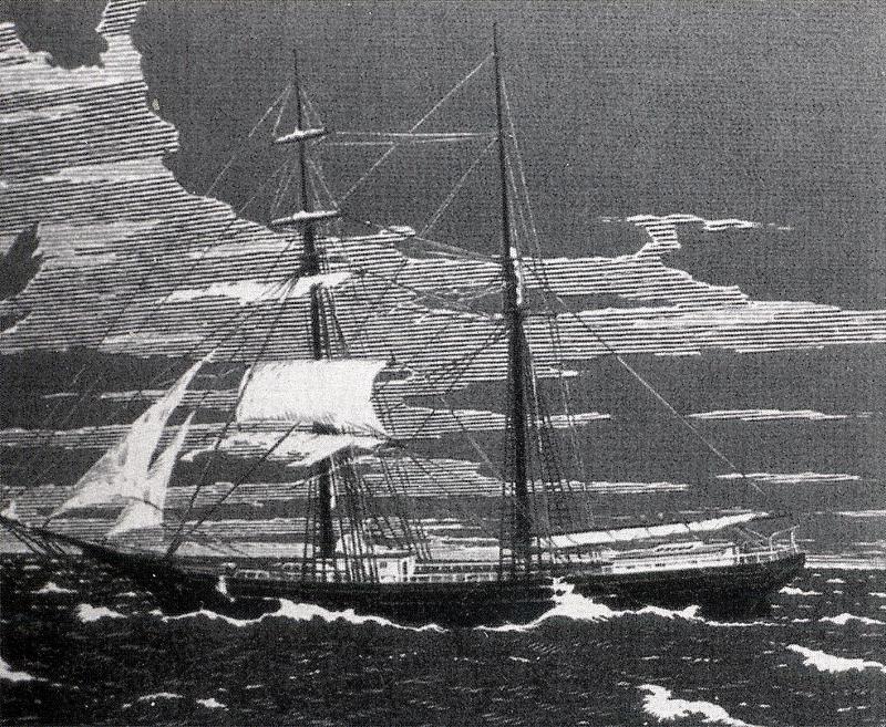 Γκραβούρα του Mary Celeste.