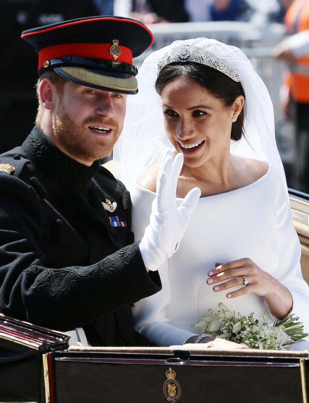 Η νύφη Μέγκαν ΜΑρκλ με τον πρίγκιπα Χάρι