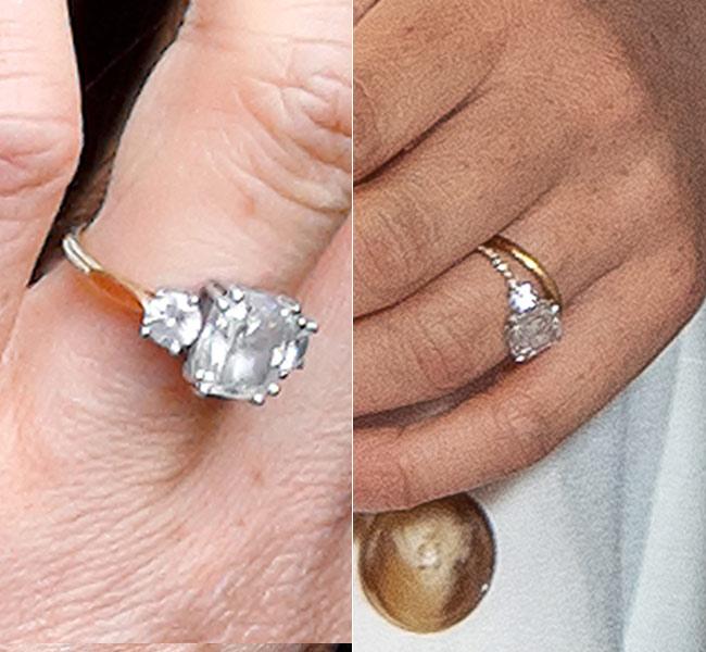 Το δαχτυλίδι της Μέγκαν Μαρκλ την ημέρα του αρραβώνα της και στην τελευταία της εμφάνιση