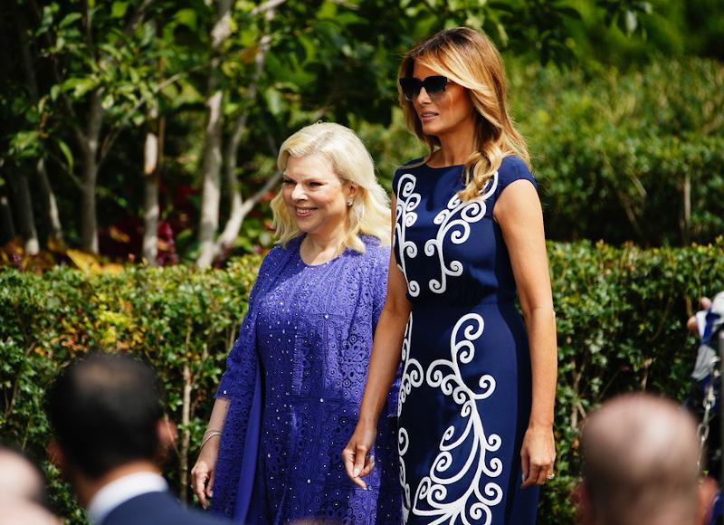 Η Μελάνια Τραμπ με την Σάρα Νετανιάχου