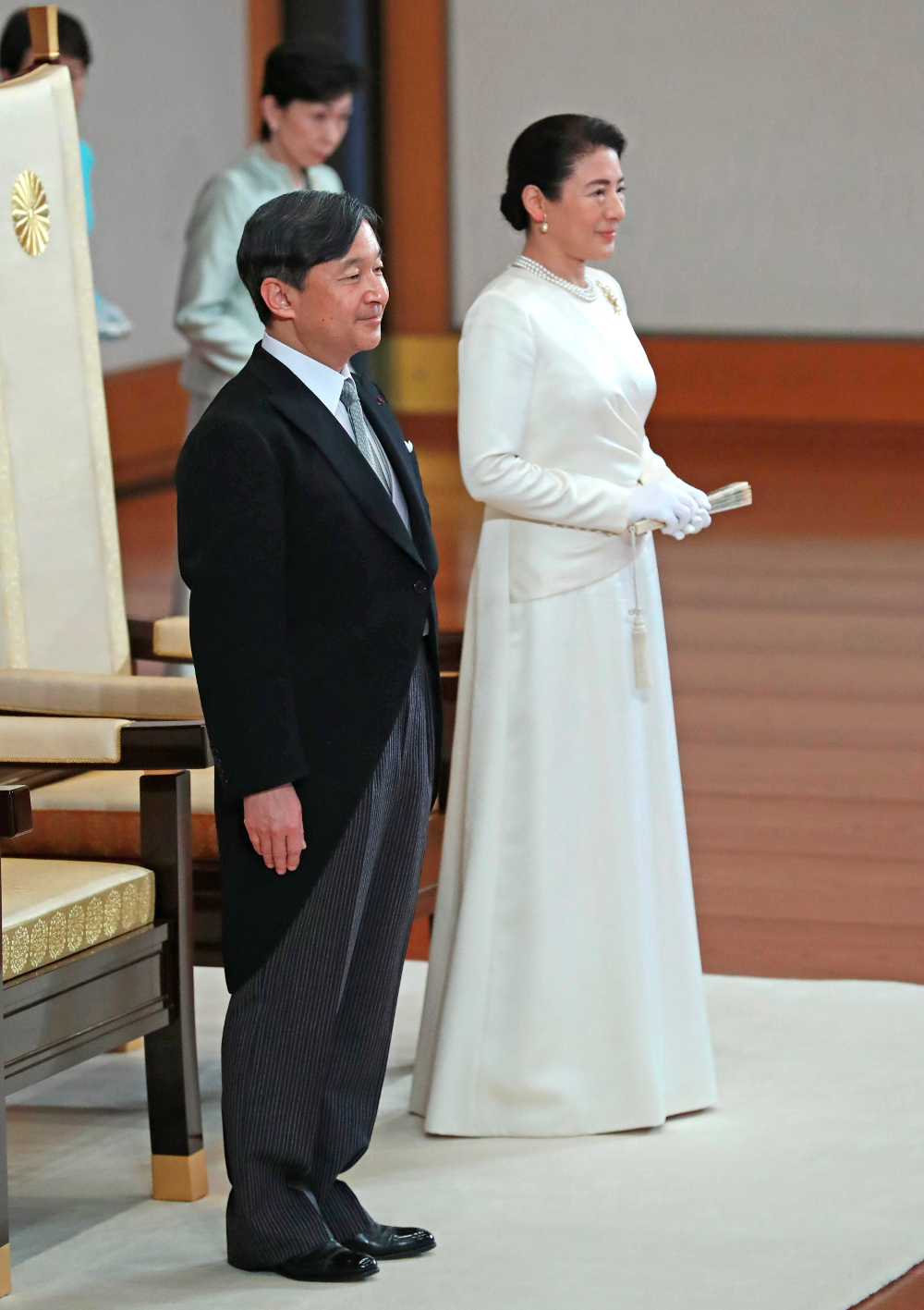 Η Μασάκο, ήταν στο πλάι του συζύγου της κατά την στέψη του ως νέος αυτοκράτορας της Ιαπωνίας