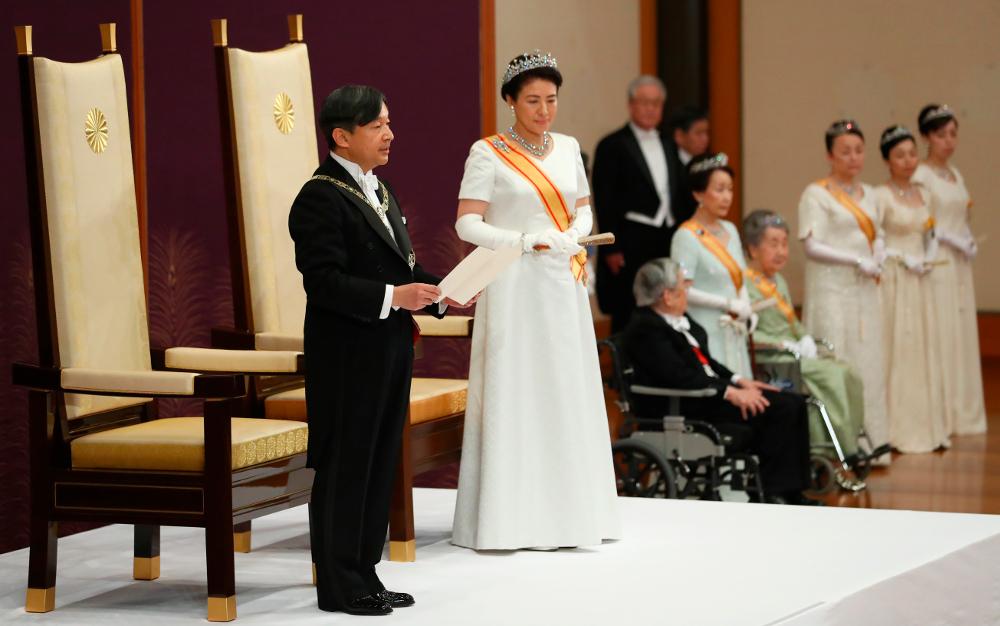 Ο νέος αυτοκράτορας της Ιαπωνίας, Ναρουχίτο κατά την στέψη του