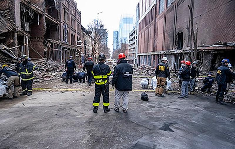 Βομβαρδισμένο τοπίο θύμιζε το κέντρο του Νάσβιλ μετά την έκρηξη ανήμερα τα Χριστούγεννα