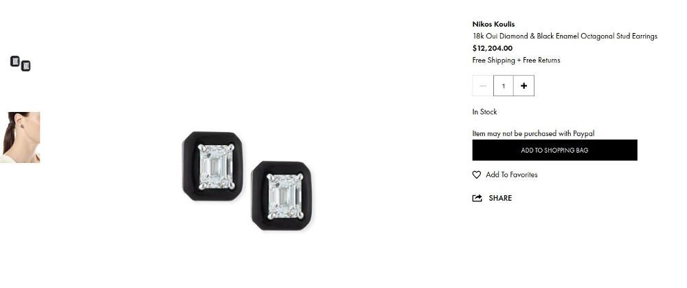 Τα σκουλαρίκια του Έλληνα σχεδιαστή Νίκου Κούλη πωλούνται έναντι 12.204 δολαρίων