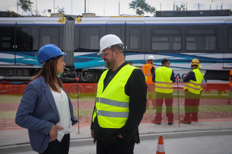 Η Κατερίνα Νοτοπούλου μαζί με τον βουλευτή του ΣΥΡΙΖΑ Αλέξανδρο Τριανταφυλλίδη