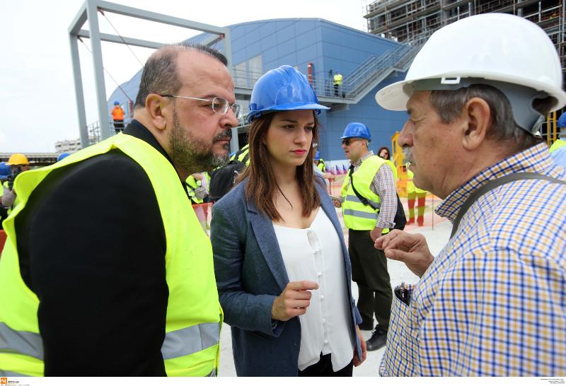 Η Κατερίνα Νοτοπούλου, ο βουλευτής Τριανταφυλίδης και ο πρόεδρος του ΟΑΣΘ κ. Παππάς