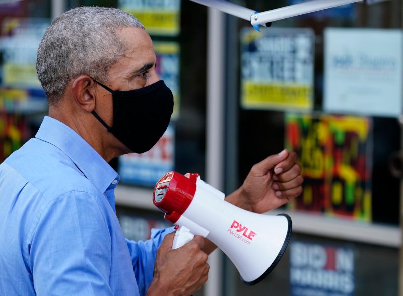O Ομπάμα έκανε εκστρατεία με ντουντούκα υπέρ του Τζο Μπάιντεν στη Φιλαδέλφεια