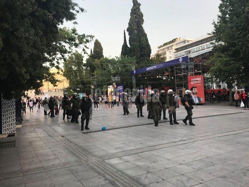 Δυνάμεις της ΕΛ.ΑΣ στην πλατεία Συντάγματος