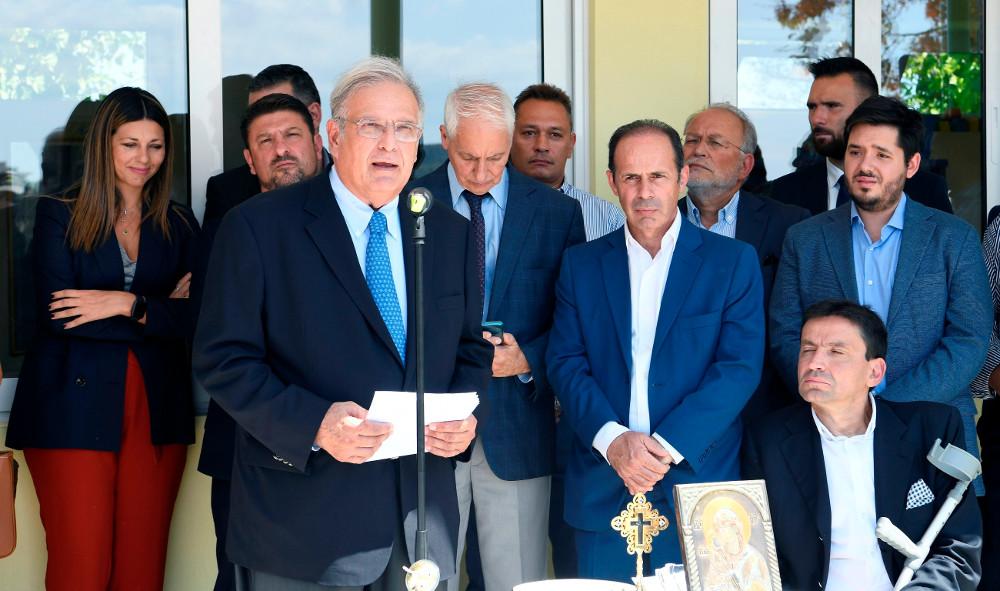 Ο Πρόεδρος της ΕΛΛΗΝΙΚΑ ΠΕΤΡΕΛΑΙΑ κ. Παπαθανασίου, κατά τον σύντομο χαιρετισμό του