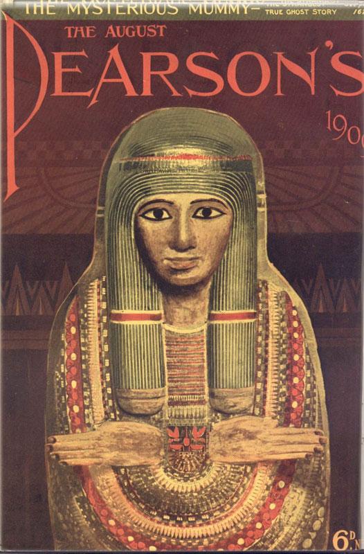 Το εξώφυλλο του Pearson's Magazine του 1909 για την «Άτυχη Μούμια».