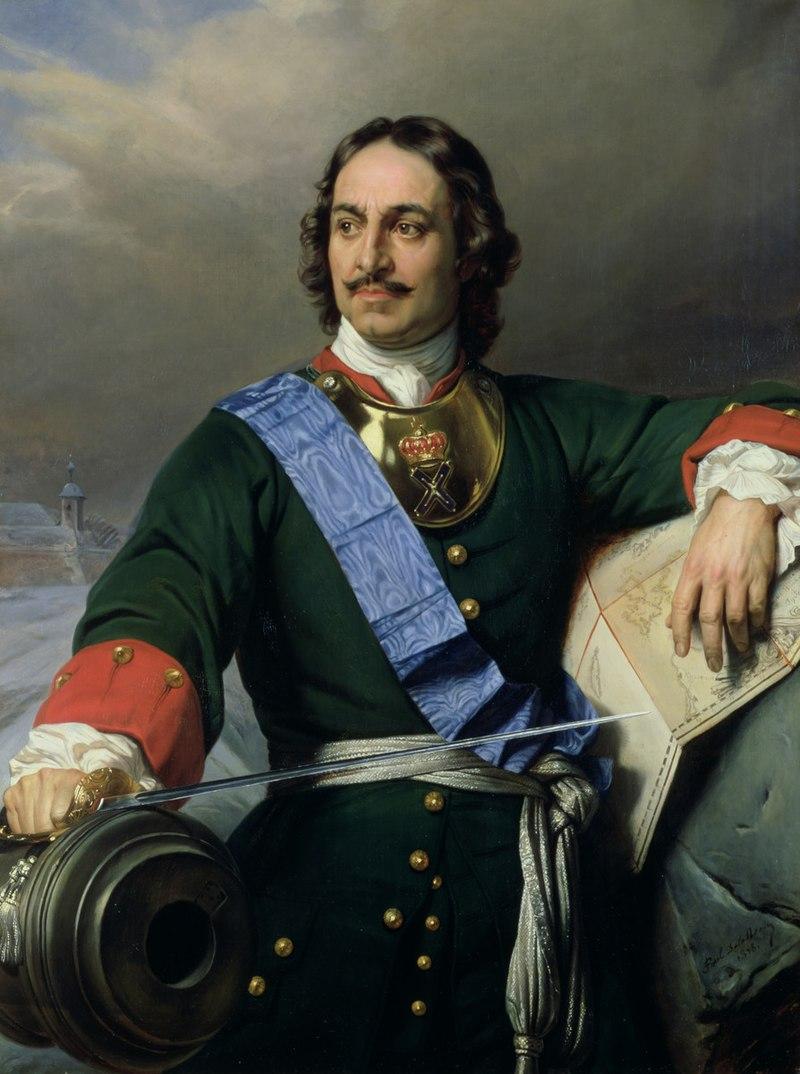 Πορτρέτο του Ρώσου τσάρου Πέτρου του Μεγάλου.