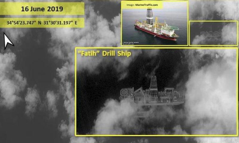 Αποτέλεσμα εικόνας για Κύπρος: Δορυφορικές εικόνες δείχνουν το τουρκικό γεωτρύπανο «Πορθητής» ανοιχτά της Πάφου