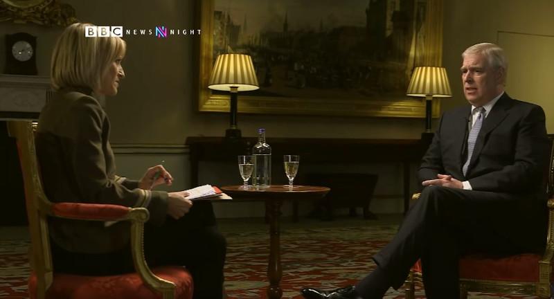 Ο πρίγκιπας Άντριου στην εκπομπή News Night του BBC.
