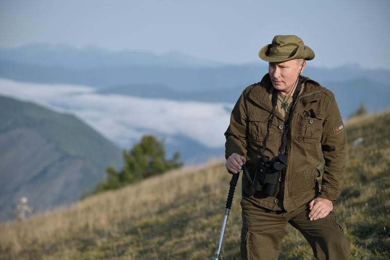 Ο Πούτιν στη διάρκεια των περσινών διακοπών του στη Σιβηρία.