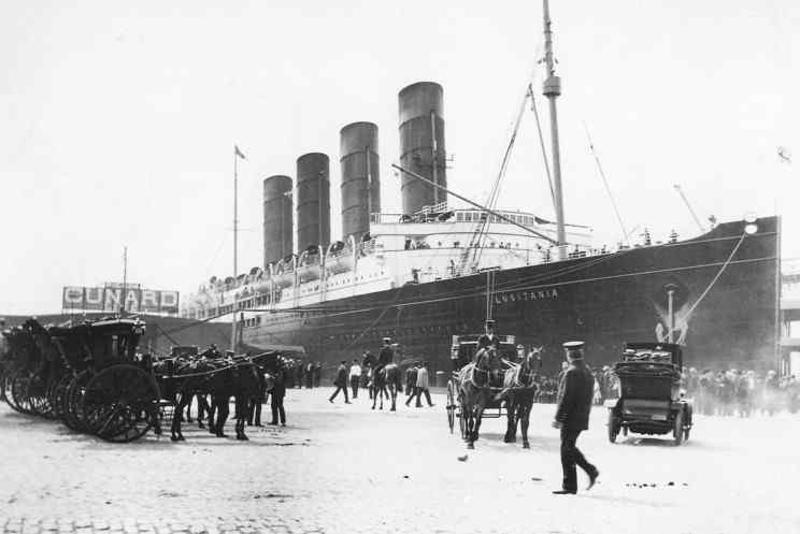To επιβατικό πλοίο Λουζιτάνια